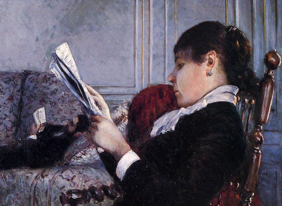 Caillebotte-femme-lisant